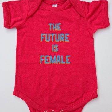 The Future is Female Baby Onesie® Pink